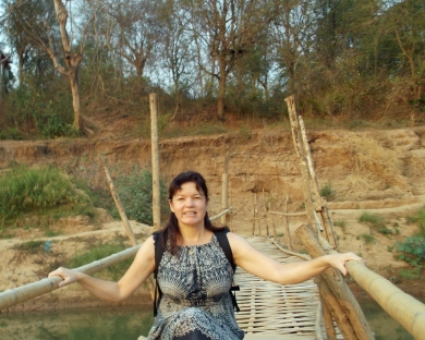 Me on Bamboo Bridge